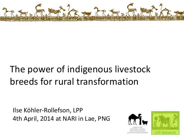The power of indigenous breeds for rural transformation - presentation given at the National Agricultural Research Institute in Lae, PNG