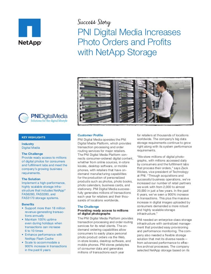 PNI Digital Media Increases Photo Orders and Profits with NetApp Storage