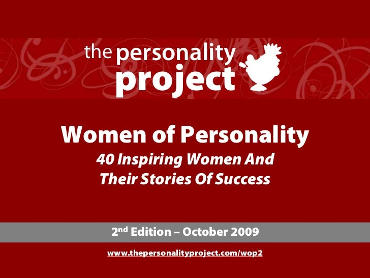 the personality     project Women of Personality   40 Inspiring Women And   Their Stories Of Success       2nd Edition – O...
