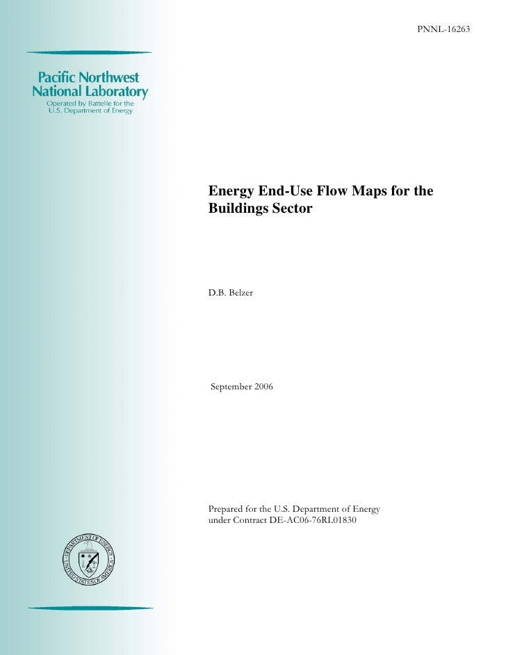 PNNL-162635Energy End-Use Flow Maps for theBuildings SectorD.B. BelzerSeptember 2006Prepared for the U.S. Department of En...