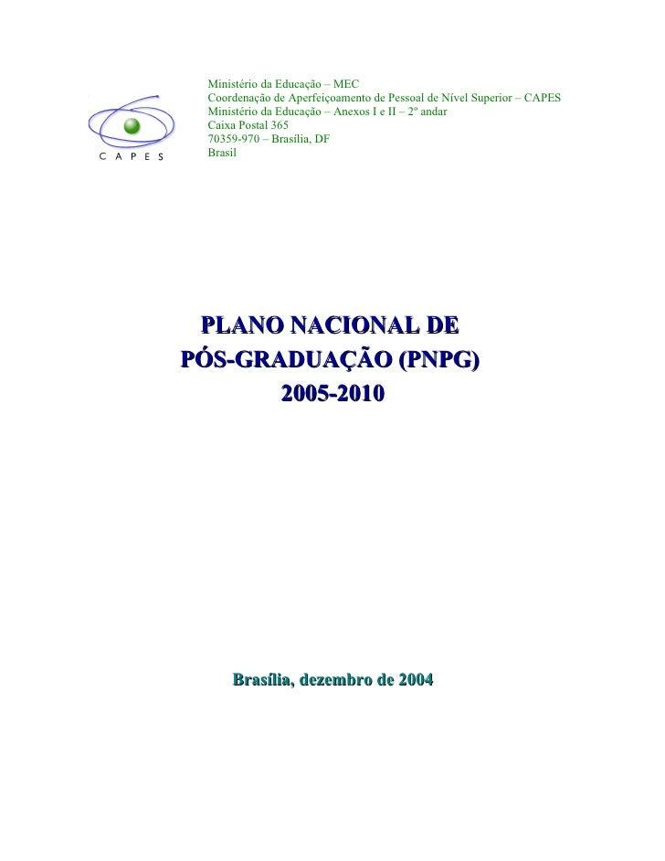 Plano Nacional de Pós-Graduação (2005-2010)