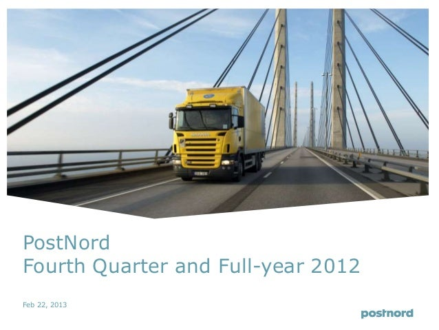 PostNordFourth Quarter and Full-year 2012Feb 22, 2013