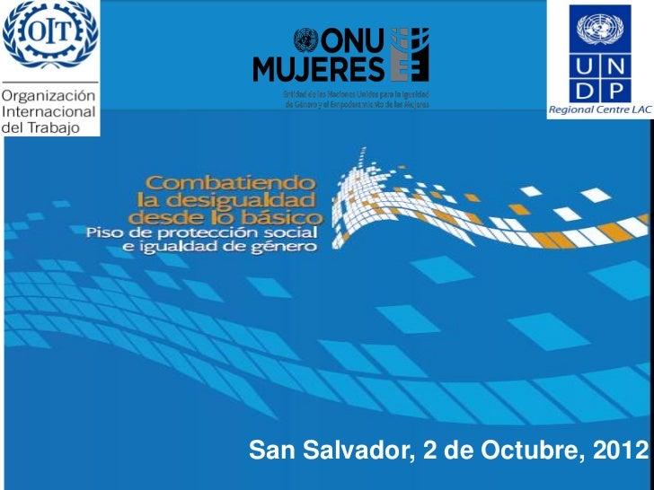 Pnud presentacion documento el salvador octubre 2012