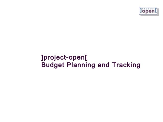 ]project-open[ Budget Planning and Tracking