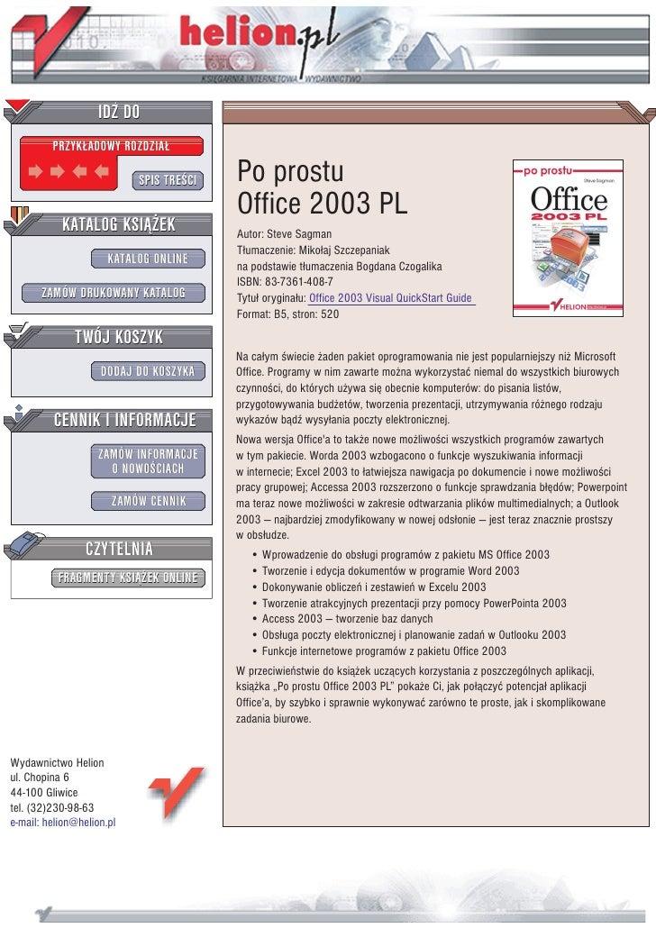 Po prostu Office 2003 PL