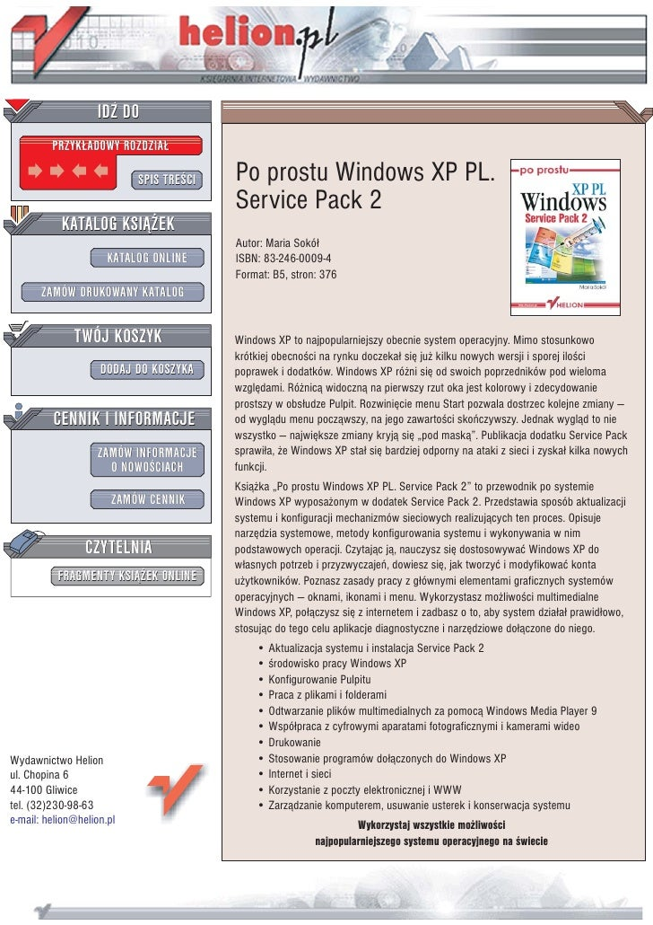 Po prostu Windows XP PL. Service Pack 2