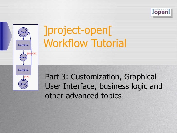 ]project-open[  Workflow Tutorial Part 3: Customization, Graphical User Interface, business logic and other advanced topic...