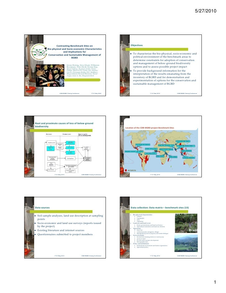 OP27: Contrasting Benchmark Sites on Bio-physical and Socio-economic Characteristicsand Implications for Conservation and Sustainable Management of BGBD