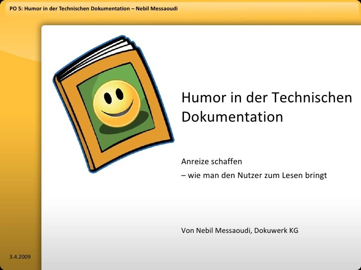 PO 5: Humor in der Technischen Dokumentation – Nebil Messaoudi                                                            ...