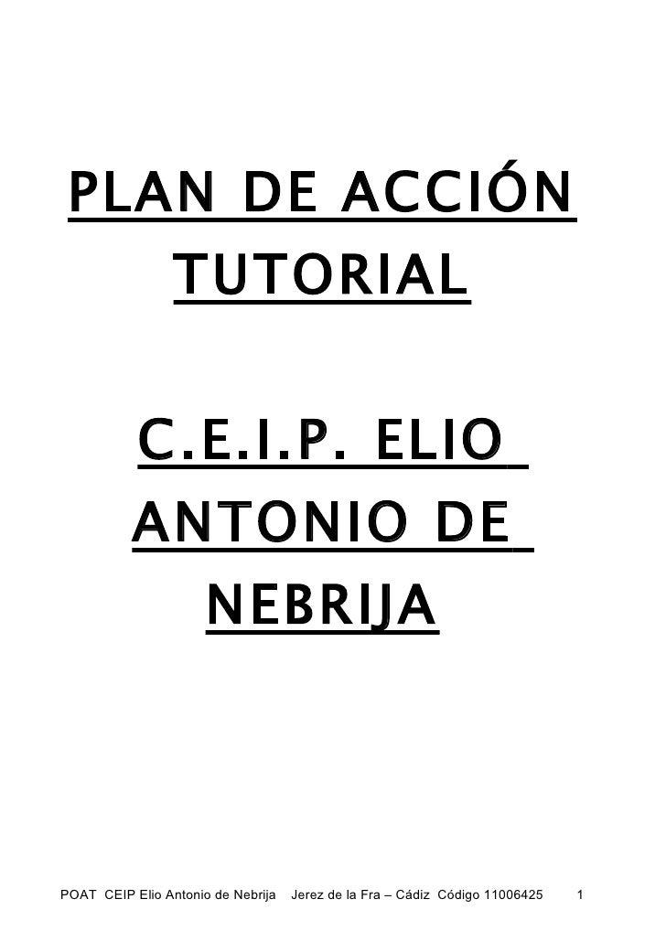 PLAN DE ACCIÓN                 TUTORIAL           C.E.I.P. ELIO          ANTONIO DE                      NEBRIJAPOAT CEIP ...