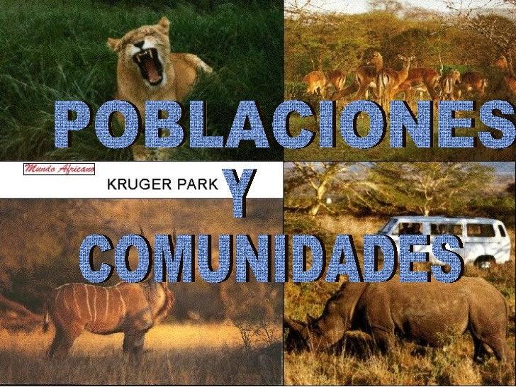 POBLACIONES  COMUNIDADES Y