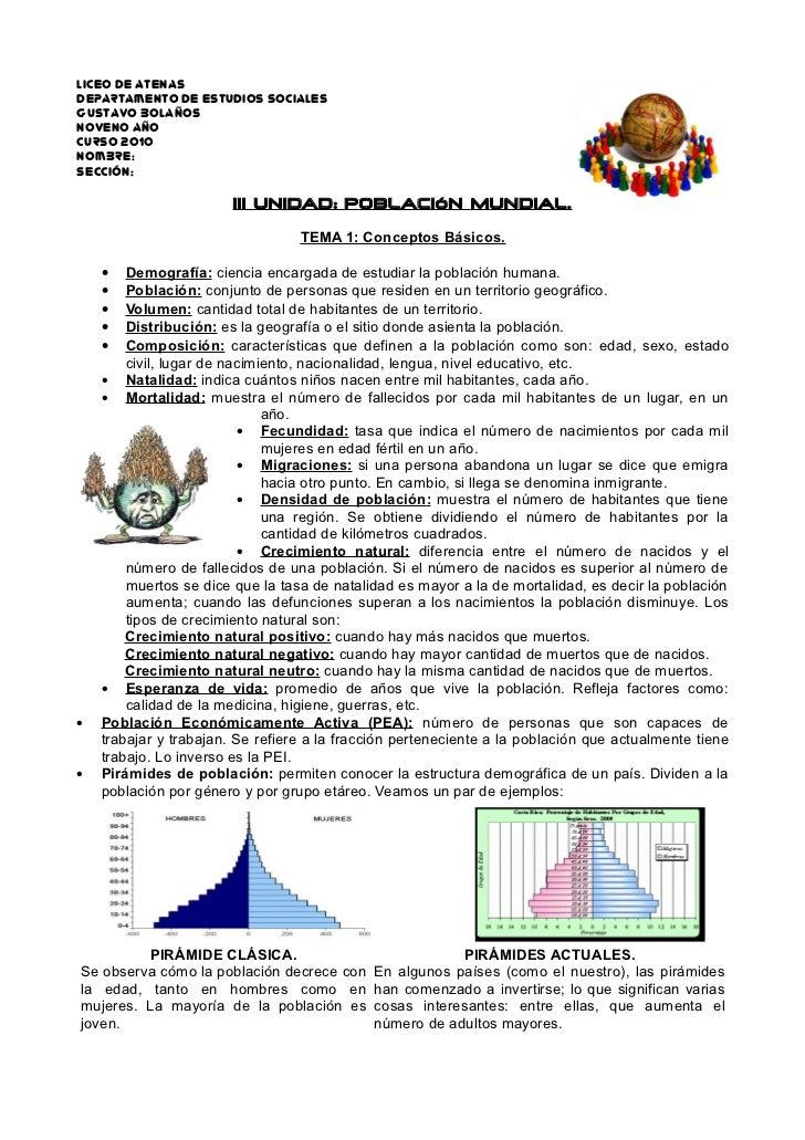 Liceo de Atenas Departamento de Estudios Sociales Gustavo BolaÑos Noveno aÑo Curso 2010 nombre: sección:                  ...