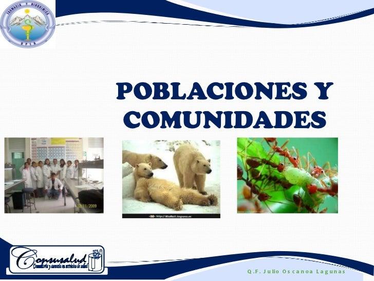 POBLACIONES Y COMUNIDADES