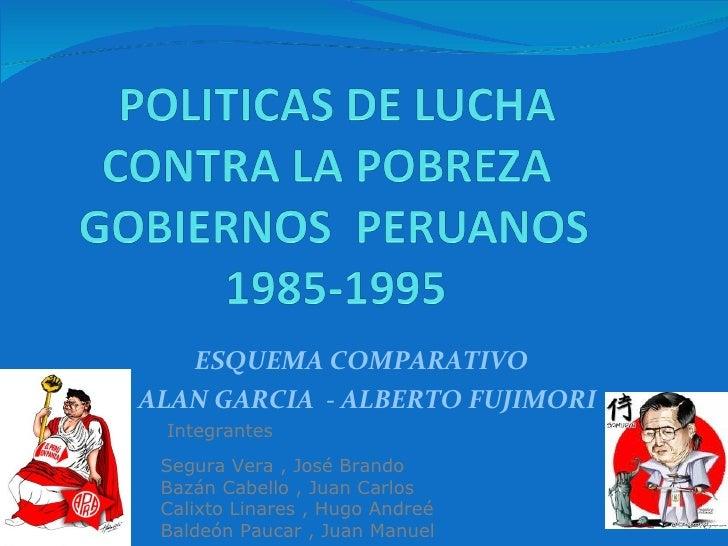 ESQUEMA COMPARATIVO  ALAN GARCIA  - ALBERTO FUJIMORI Segura Vera , José Brando Bazán Cabello , Juan Carlos Calixto Linar...