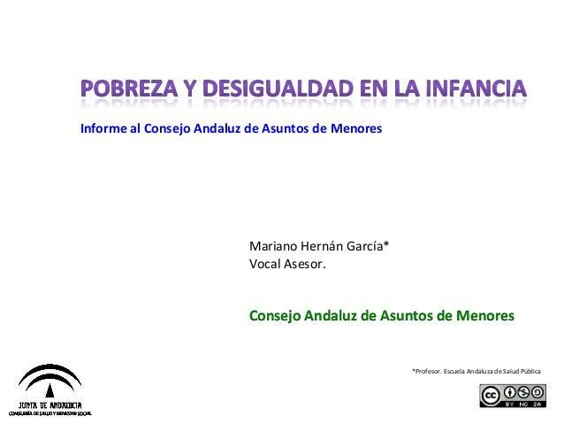 Informe al Consejo Andaluz de Asuntos de Menores                               ...