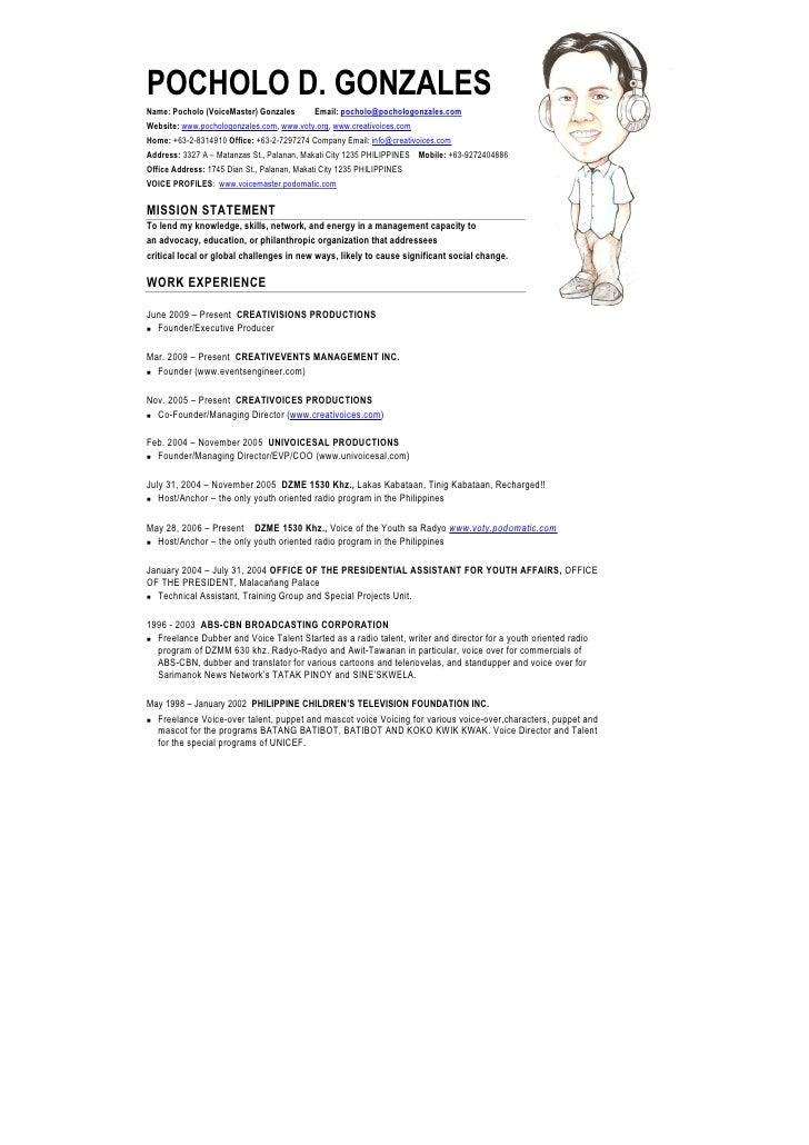 Pochologonzalesresume 2009