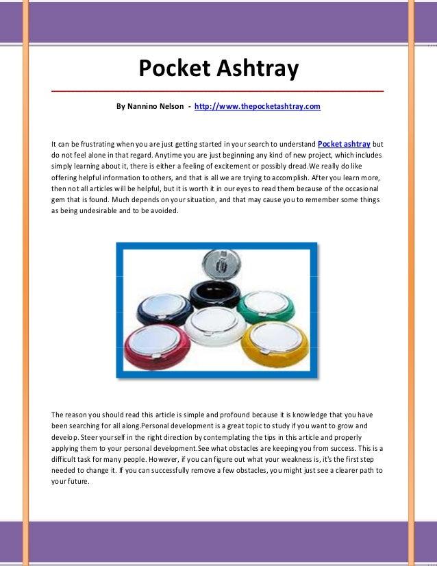 Pocket Ashtray_____________________________________________________________________________________                     By...