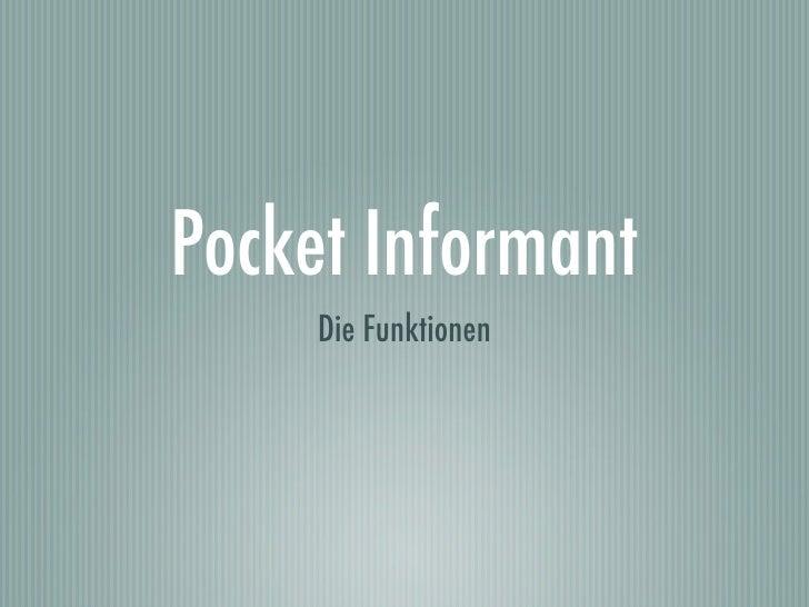 Pocket Informant      Die Funktionen