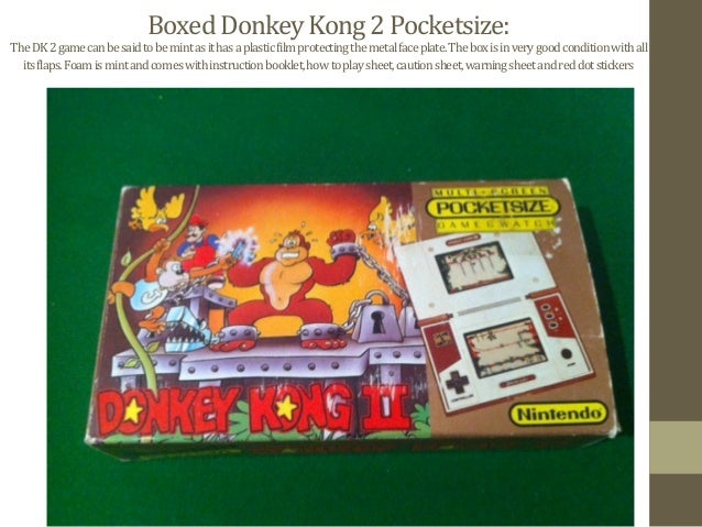 Boxed  Donkey  Kong  2  Pocketsize:   The  DK  2  game  can  be  said  to  be  mint  as  i...