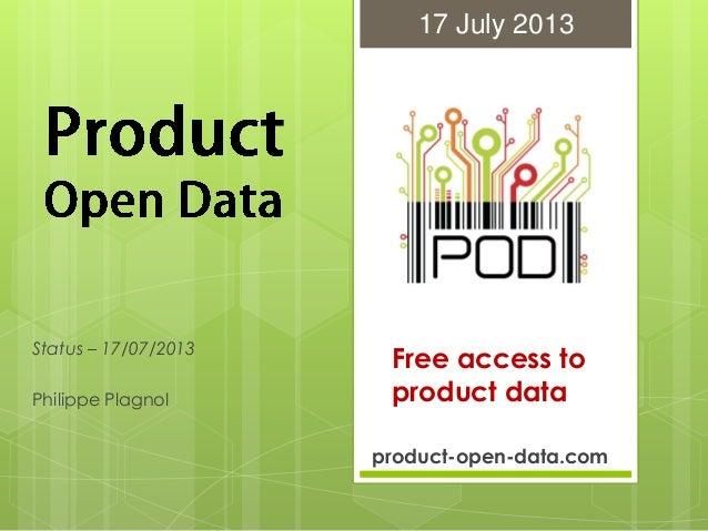 Pod status-2013.07.17 01