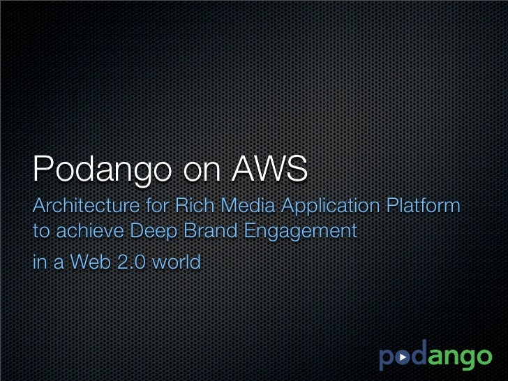 Podango on AWS Architecture for Rich Media Application Platform to achieve Deep Brand Engagement in a Web 2.0 world