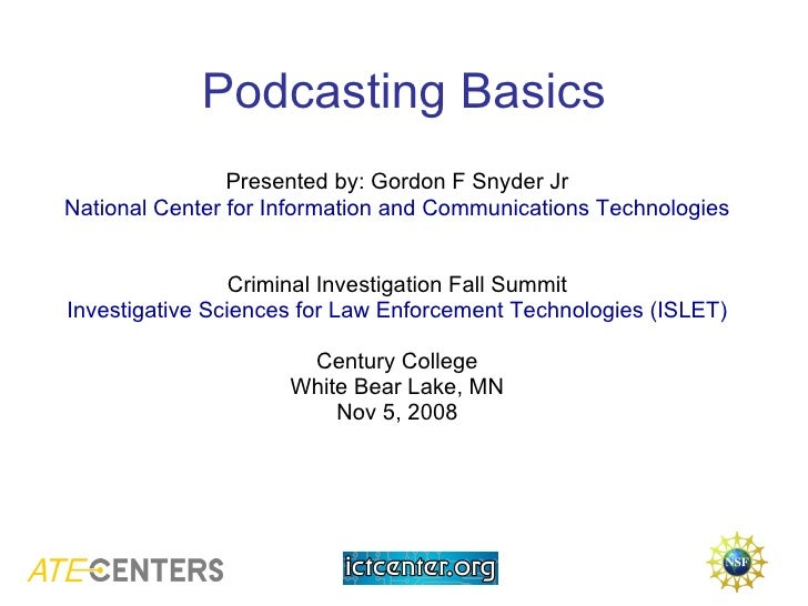 Podcast Session Islet Nov 2008