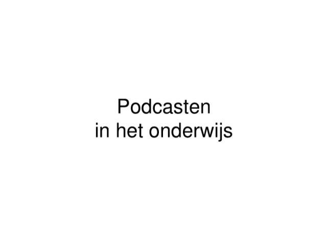 Podcasten in het onderwijs