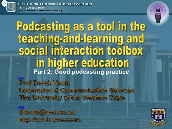 Podcasting in e-learning part-2
