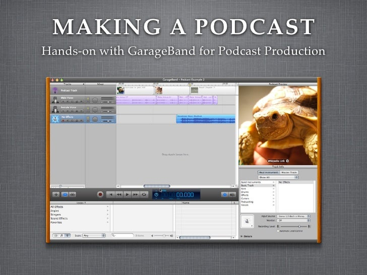 MAKING A PODCAST Hands-on with GarageBand for Podcast Production