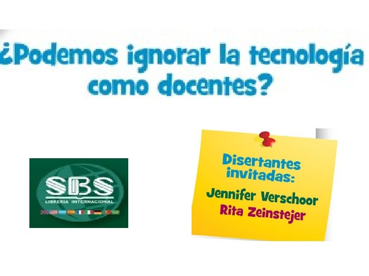Podemos ignorar_la_tecnologia_como_docentes_