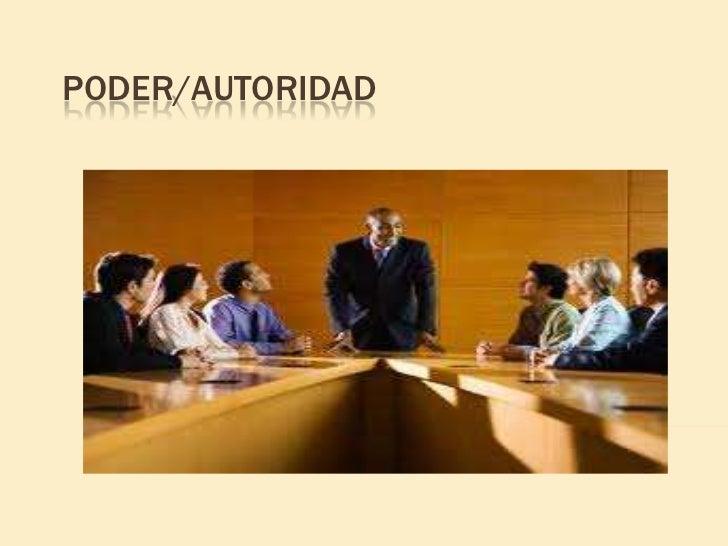 PODER/AUTORIDAD