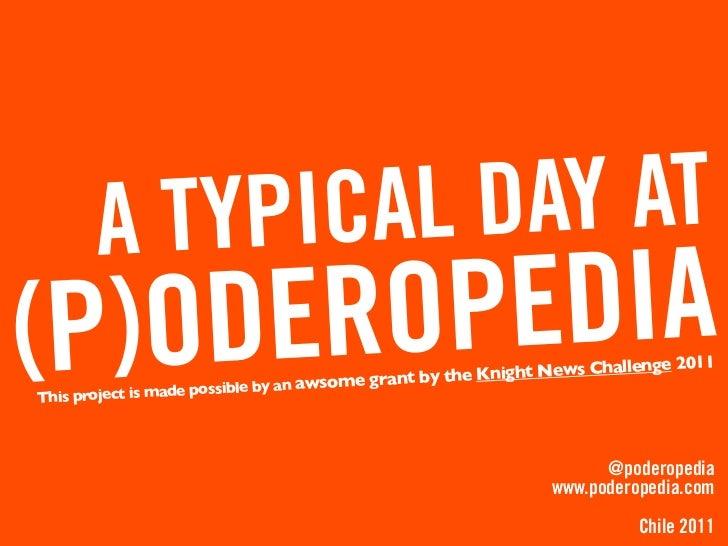 A regular day at Poderopedia (Knight News Challenge 2011 winner)