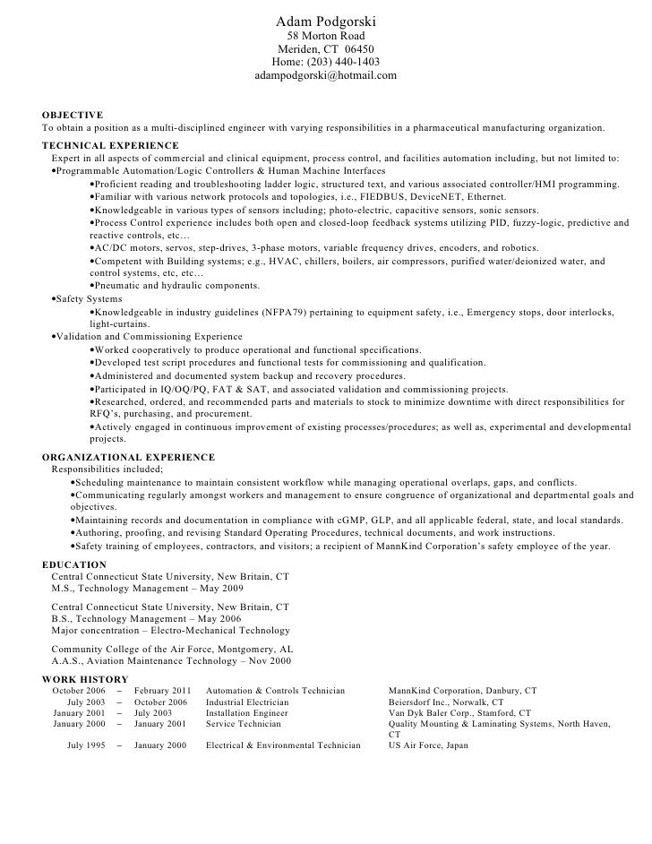 Process Validation Engineer Sample Resume] Download Process ...