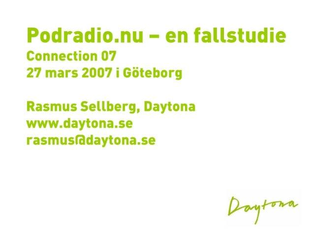 Podradio.nu - case study
