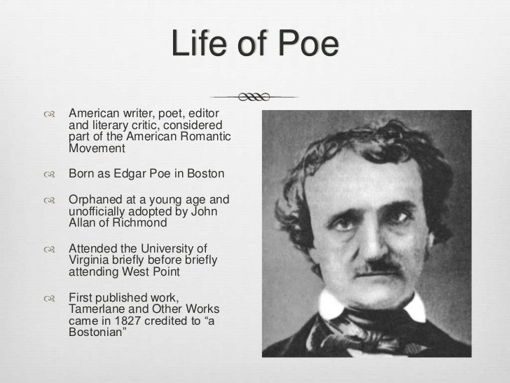 edgar allan poe and his romanticism essay Free poem analysis essay example on edgar poe poetry analysis edgar allan poe was an american poet the critics sometimes refer to his works as of the dark romanticism due to the topics he explores in them.
