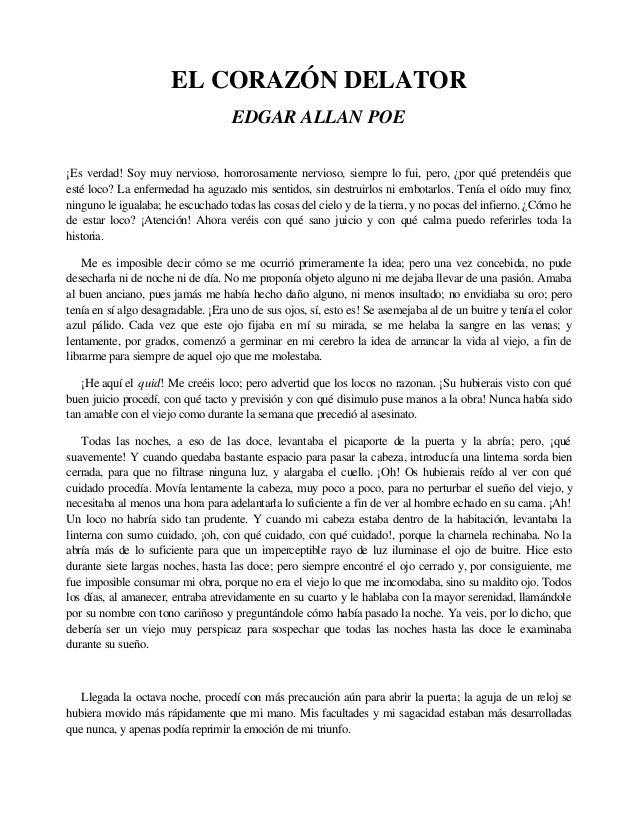 Edgar Allan Poe, El Corazón Delator