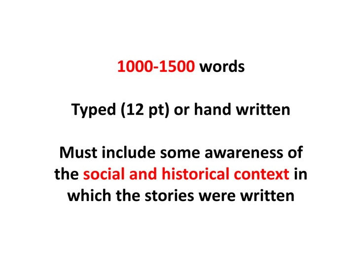 Producing a Well-Structured 1500 Word Essay