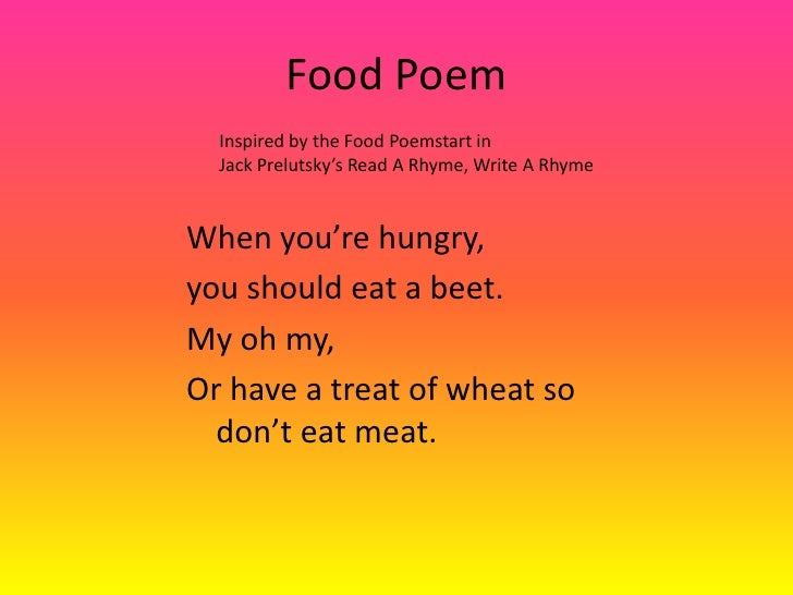 ode poems about food - photo #21