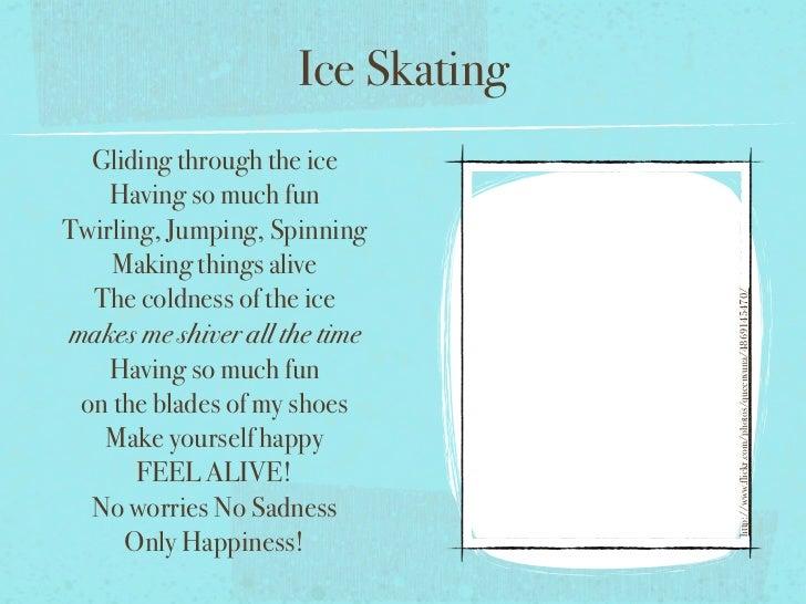 Ice Skating Poem Ice Skating Gliding Through