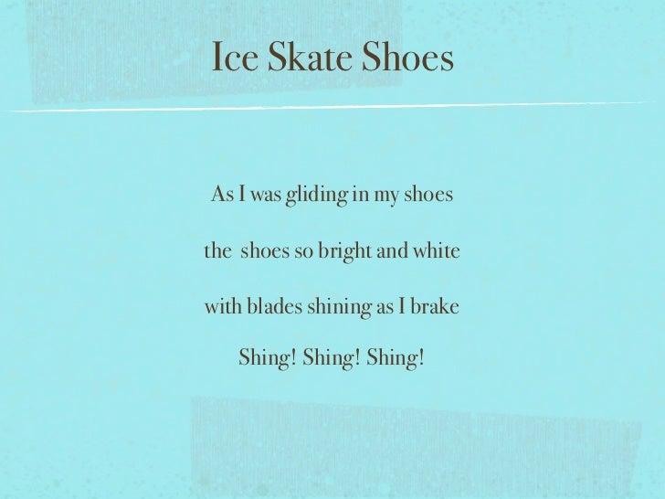Ice Skating Poem Ice Skate Shoesas i Was