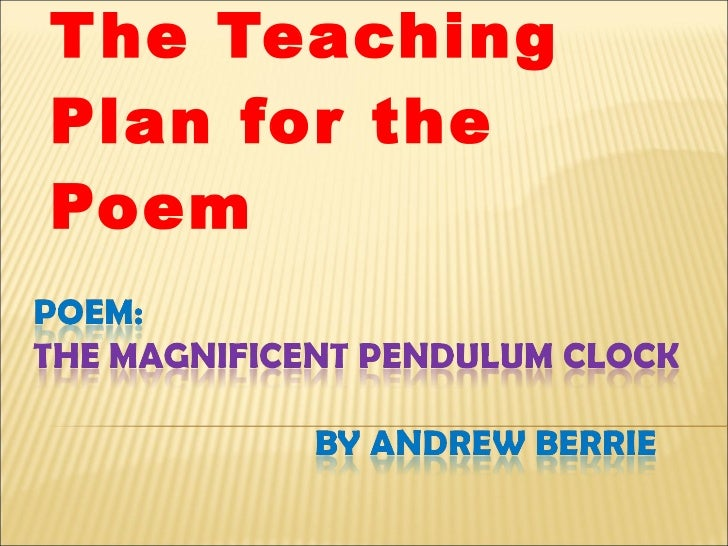 The Teaching Plan for the Poem