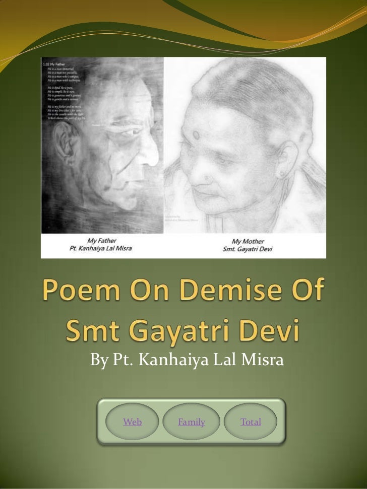 On Demise Of Gayatri Devi