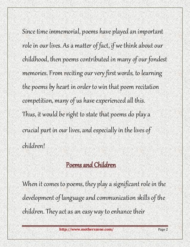 poets childhood essay
