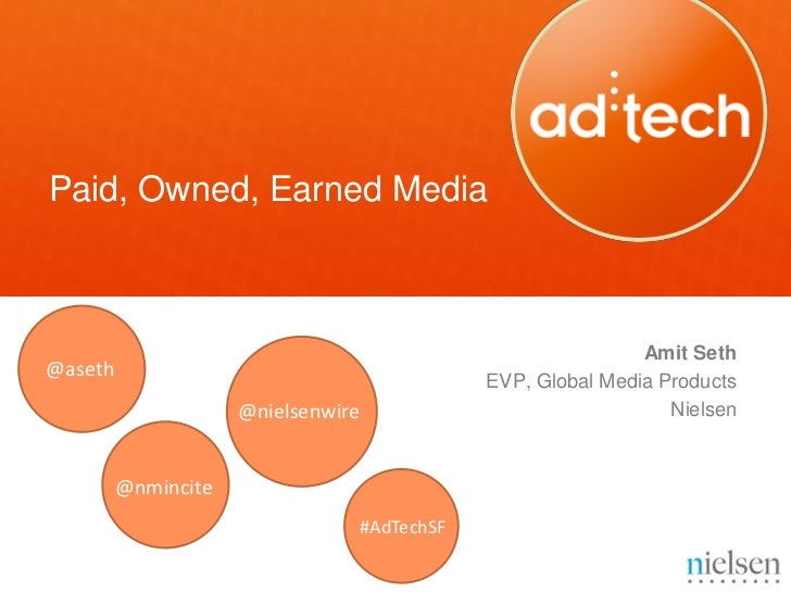 Paid, Owned, Earned Media                                                            Amit Seth@aseth                      ...