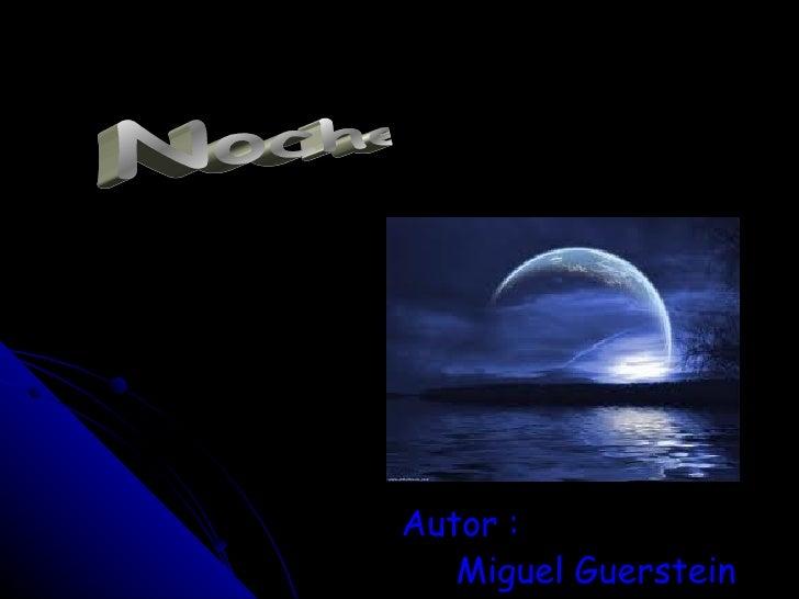 Autor : Miguel Guerstein Noche