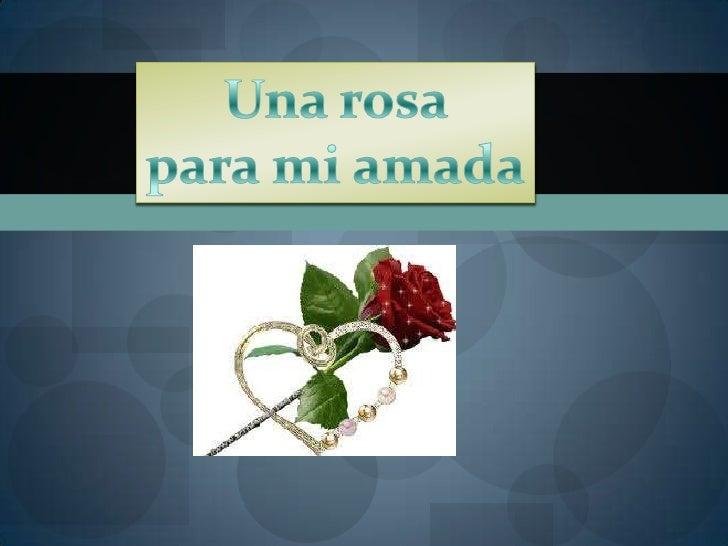 Una rosa <br />para mi amada<br />
