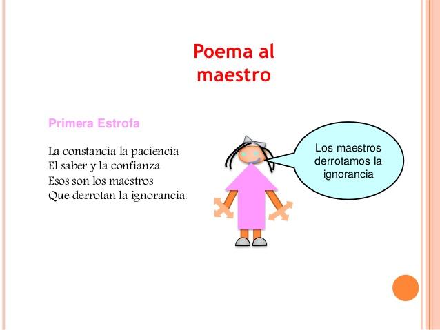 Poema para maestros - Imagui