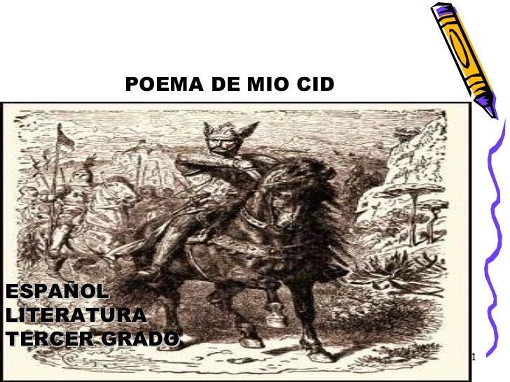 POEMA DE MIO CID ESPAÑOL LITERATURA TERCER GRADO