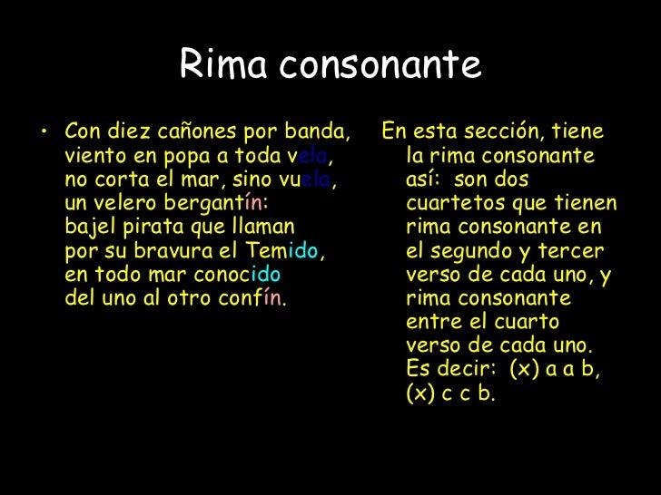 Poemas Con Rima Consonante