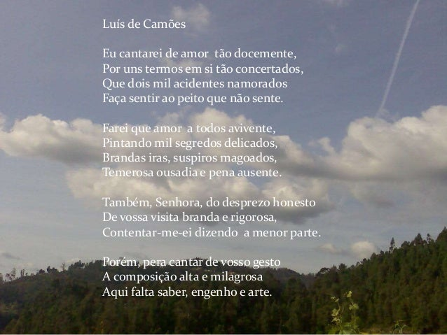 Luis de Camoes poemas